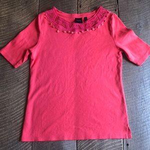 Women's Rafaella Half Sleeve Top Size S